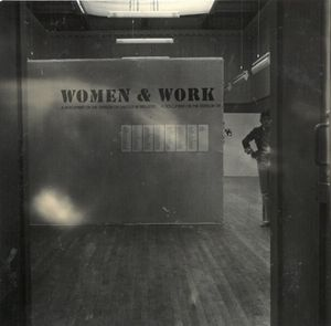 Installation view of Women and Work: A Document on the Division of Labour in Industry, 1975 (artists: Margaret Harrison, Kay Hunt and Mary Kelly). Photo: South London Gallery Archive