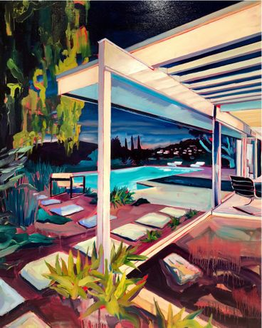 Asparagus House (2018), Rex Southwick, Oil on Canvas, 89 x 100cm