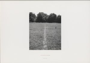 Richard Long, A Line Made by Walking, 1967 © Richard Long