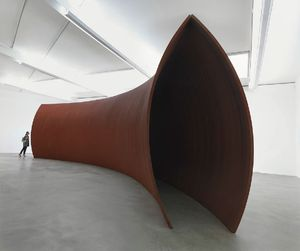 RICHARD SERRA Backdoor Pipeline, 2010 Weatherproof steel 149 5/8 x 598 1/2 x 153 1/2 inches (380 x 1520 x 390 cm). Photo by Mike Bruce.