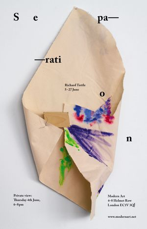 Richard Tuttle, 'Separation'