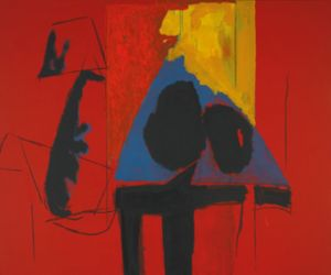Robert Motherwell, The Studio, 1987, acrylic and charcoal on canvas, 152.4 x 182.9 cm, courtesy Bernard Jacobson Gallery