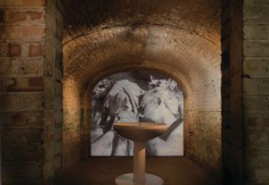 Roger Thorp, Installation view of In Fields of Grace at The Crypt Gallery, London