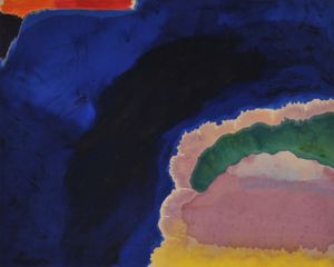 Blue Wall, 1970, Acrylic on canvas, 82 x 103 in (209 x 262 cm)