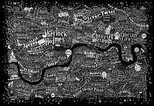 Literary London Map By DEX
