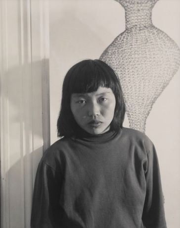 Ruth Asawa and Her Wire Sculpture, 1951 Photo by Imogen Cunningham. © 2020 Imogen Cunningham Trust