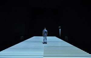 test pattern [no12] site-specific installation, 2017 © Ryoji Ikeda. courtesy of The Vinyl Factory