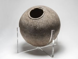 Steatite Olla, Chumash, Siwaya Village, Late Period, 800 - 1800 CE. Courtesy of Santa Barbara Historical Museum. Gift of the Dr. Irving Willis Estate