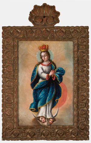 Miguel Cabrera, Virgin of the Apocalypse , late 17th c. Oil on canvas. Courtesy of Santa Barbara Historical Museum. Given in Memory of Edward Orena de Koch