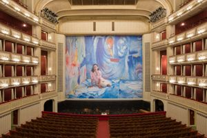 Dominique Gonzalez-Foerster, Helen & Gordon, Safety Curtain 2015/2016, Vienna State Opera, Photo: Andreas Scheiblecker, Copyright: museum in progress (www.mip.at)