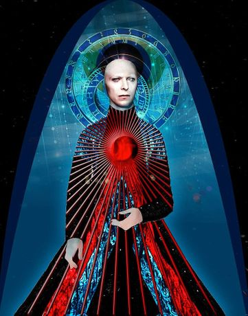 Nyahzul Blanco Starman 2016 photomontage on aluminum 11 x 14 inches