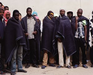 Detention center for migrants of Zawiya (Libya, December 2014) © Samuel Gratacap