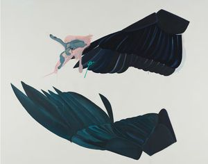 Inci Furni, Changing Wings (For Ayse), 2012, Acrylic on canvas, 200 x 249 cm, Courtesy by the artist