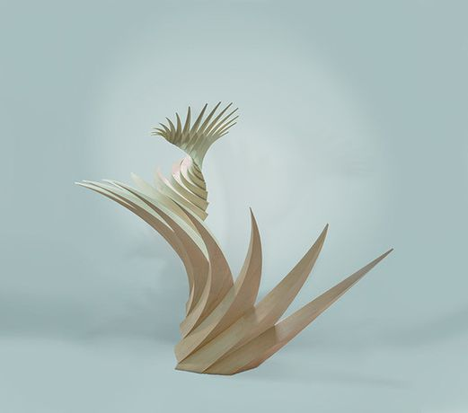 Santiago Calatrava P 253 06, 2016     Alaskan yellow cedar, unique     101 5/8 x 100 3/4 x 39 3/8 inches