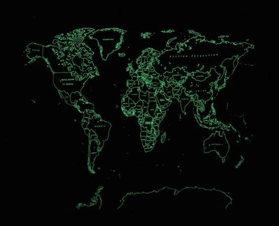 Satoru Aoyama: Map of the World (Dedicated to Unknown Embroiderers), 2015 Polyester and luminous thread on polyester Courtesy the artist and Mizuma Art Gallery, Tokyo