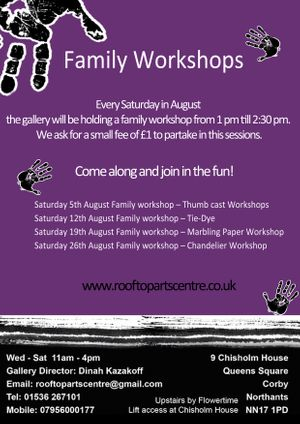 Saturday 26th August Family workshop – Chandelier Workshop