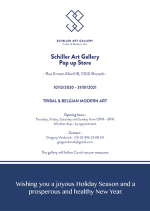 Schiller Art Gallery - Pop Up Store - Tribal & Belgian Modern Art