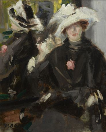 Francis Campbell Boileau Cadell (1883-1937) The Feathered Hat c1915 oil on millboard courtesy the Fleming-Wyfold Art Foundation