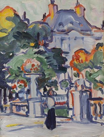 Samuel John Peploe (1871-1935) Luxembourg Gardens c1910 oil on panel courtesy the Fleming-Wyfold Art Foundation