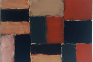Sean Scully Small Barcelona Sand Wall 2004 oil on linen 24 x 32 inches (60.4 x 80.9 cm)