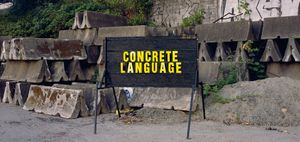 See Other Side of Sign / Concrete Language. Ron Terada