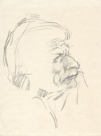 Robert Medley Portrait of John Berger