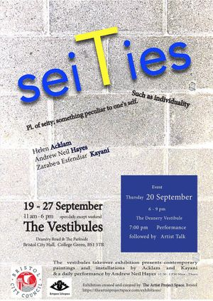 Seities - Private view with performance + artist talk