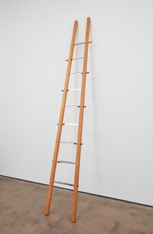 MARINA ABRAMOVIC Ladder, 1995 wood, knives 149 x 22 x 4 inches (378.5 x 55.9 x 10.2 cm) MA-99