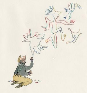 © Quentin Blake, Image from Angel Pavement by Quentin Blake (Jonathan Cape 2004)