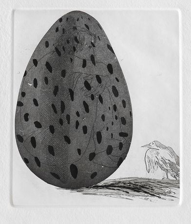 'The Boy Hidden in the Egg' by David Hockney. © The Artist