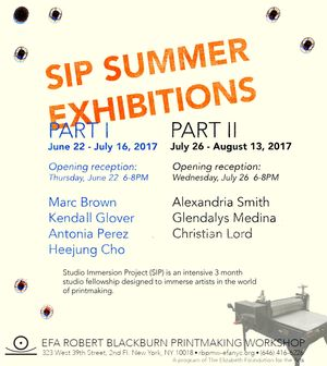 SIP Summer Show: Marc Brown, Heejung Cho, Kendall Glover and Antonia Perez
