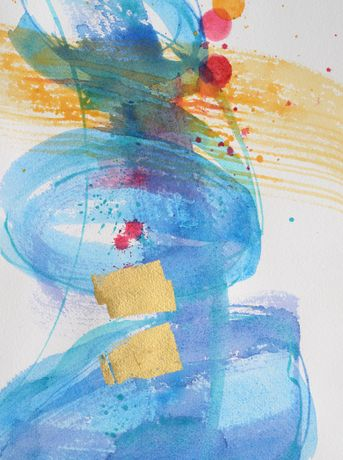 Abstract watercolour by Jackie Deveraux
