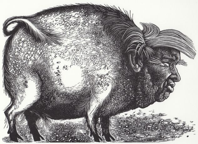The Republican Candidate, Wood Engraving, Hilary Paynter