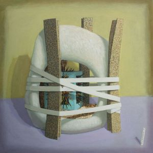 Composition with Turquiose Box, Katherine Reekie