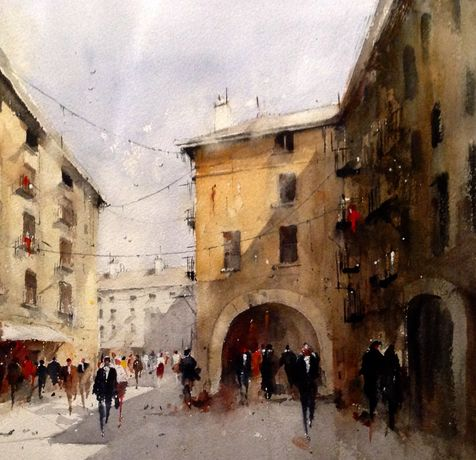 Summer in Uzes by David Norman