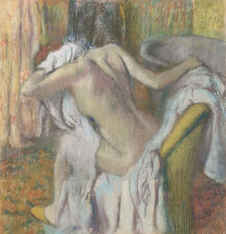 Image above: Detail from Hilaire-Germain-Edgar Degas, 'After the Bath, Woman drying herself', about 1890-5 © The National Gallery, London