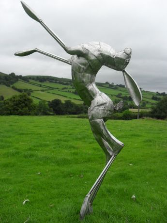 Stainless steel Dancing Hare