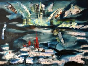 'Northern Symphony' - Joanna Ciechanowska. oil on canvas