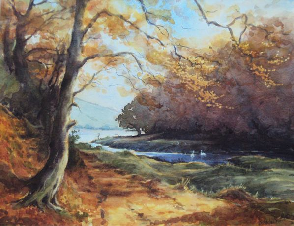 Cleddau Autumn by Ann Whalley