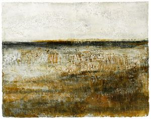 Tidal Sands by Elaine Cox, Mixed Media 40 x 50cm