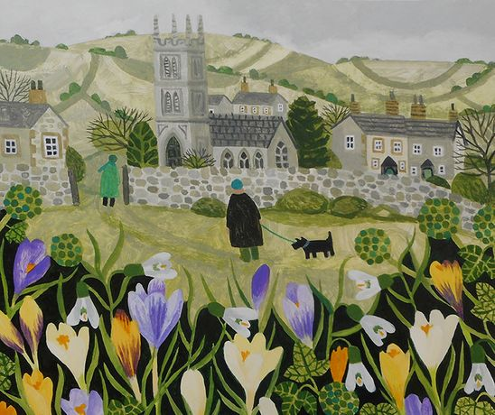 Springtime in the Village. Vanessa Bowman