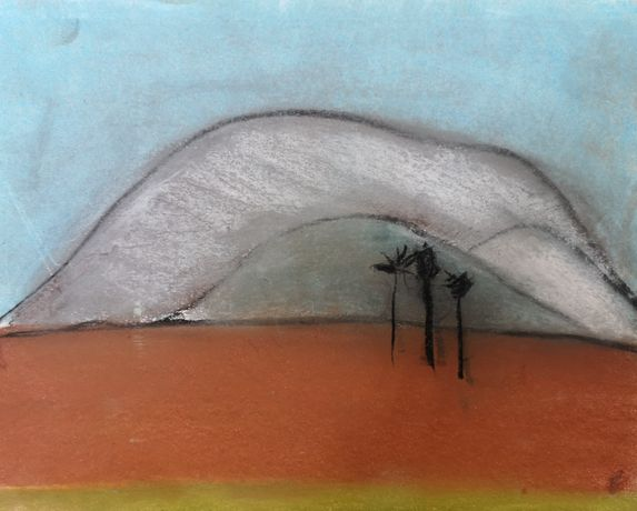 Mount Montgo by Nick Carrick pastel on paper, framed size 33 x 38cm £260