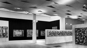 Installation view, Jackson Pollock, Whitechapel Gallery, 1958; Whitechapel Gallery Archive. Photo by Sam Lambert