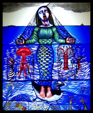 Lament for the Sea - Pinkie Maclure (Stained Glass)