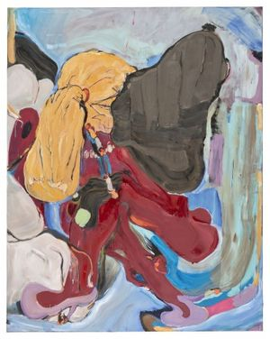 Stefanie Heinze In Limbo (Waiting For a Better Half), 2015 acrylic and oil on paper