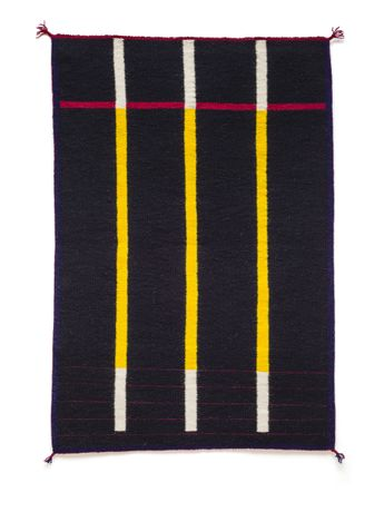 untitled woven rug by Stella Benjamin