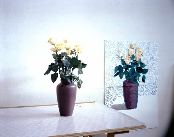 David Hockney, Roses For Mother, 1995 © David Hockney; Courtesy: Galerie Kaess.Weiss, Albstadt