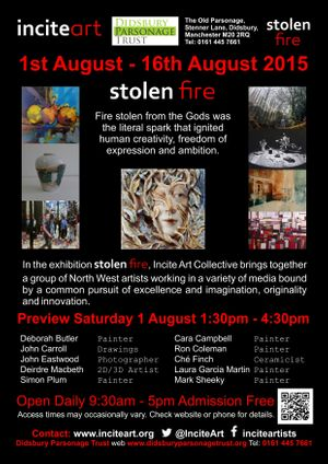 'Stolen Fire' Exhibition Poster