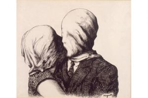 René Magritte: Duo, 1928; ink on paper; 19 1/4 x 23 1/4 in.; BAMPFA, museum purchase.