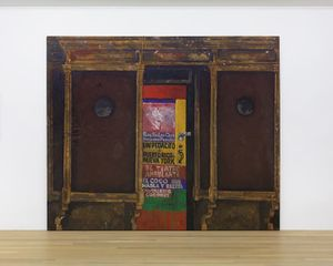Martin Wong, Untitled (Poetry Storefront), 1986, acrylic on canvas, 96 x 114 in.